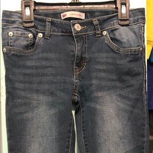 Girls Levi 710 super skinny jeans